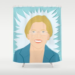 Elizabeth Warren | Bad Ass Women Series Shower Curtain