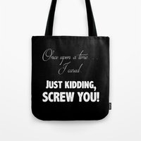 fairy tale Tote Bags featuring Fairy Tale by Truth be Told