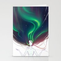 northern lights Stationery Cards featuring Northern lights by Tiphs