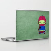 conan Laptop & iPad Skins featuring A Boy - Trap-Jaw by Christophe Chiozzi