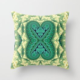 Tribal Twin Hearts Throw Pillow