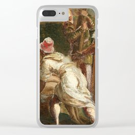 """Tintoretto (Jacopo Robusti) """"Saint Helen Testing the True Cross"""" Clear iPhone Case"""