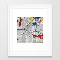 los angeles Framed Art Prints featuring Los Angeles by Mondrian Maps