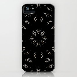 Weave the Web // Abstract Geometric Black White Minimal Pattern iPhone Case