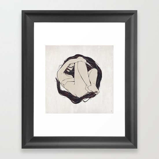 My Simple Figures: The Circle Framed Art Print