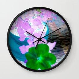 Patio Pinks Wall Clock