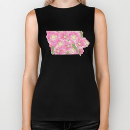 Iowa in Flowers Biker Tank