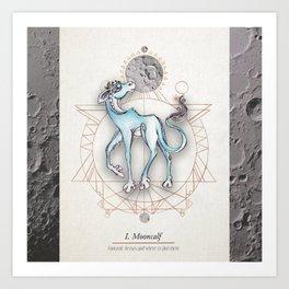 Mooncalf Art Print