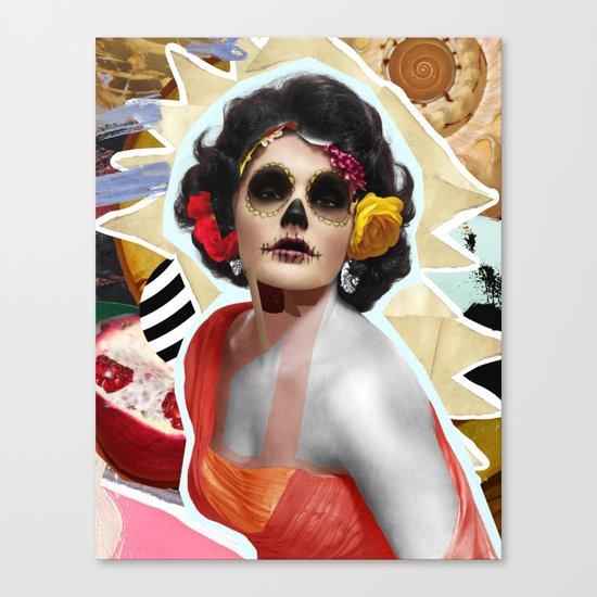 Golden Elizabeth Taylor (Sugar Skull Variant)  By Zabu Stewart Canvas Print