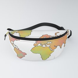 Contour Map of the World Fanny Pack