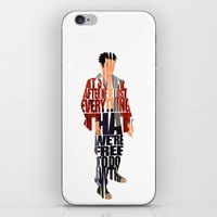 tyler durden iPhone & iPod Skins featuring Tyler Durden by Ayse Deniz