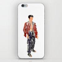tyler spangler iPhone & iPod Skins featuring Tyler Durden by Ayse Deniz