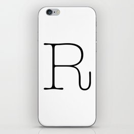 Letter R Typewriting iPhone Skin