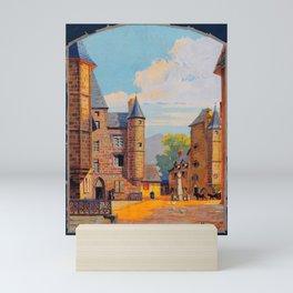 placard Salers Canal Mini Art Print
