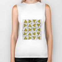 yellow pattern Biker Tanks featuring Yellow by Ivano Nazeri