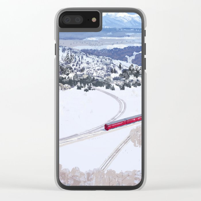 One winter day Clear iPhone Case