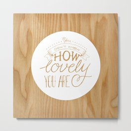 Lovely Lyric Metal Print