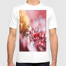 Red For Today White MEDIUM Mens Fitted Tee