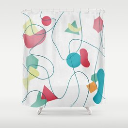 Geometric Miró Pattern Shower Curtain