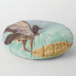 A bird on set to fly Floor Pillow