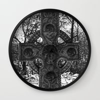 celtic Wall Clocks featuring Celtic by Kendall Brier