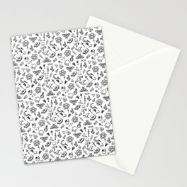 Modern Witch - White Stationery Cards