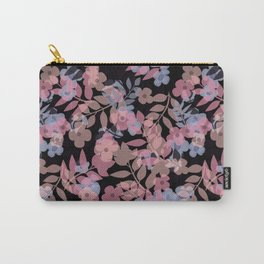 Retro . Autumn flowers . Carry-All Pouch