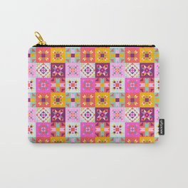 Maroccan tiles pattern with pink Carry-All Pouch