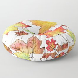 Autumn Maple Leaves Floor Pillow