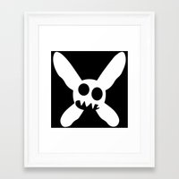 pixies Framed Art Prints featuring Necrotic Pixies Jolly Rodger by Jesse G.