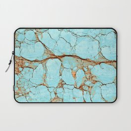 Cracked Turquoise & Rust Laptop Sleeve