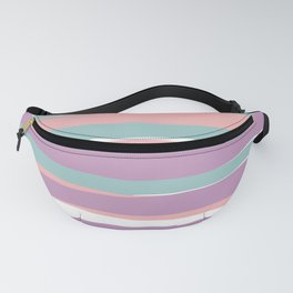 Festive, Colorful Stripes, Abstract, Teal, Pink, Purple Fanny Pack