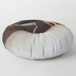 Nipper is listening-His Master's Voice Floor Pillow