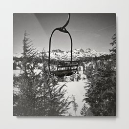 The Lone Chairlift Metal Print
