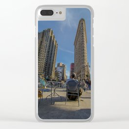 Flat Iron Seating Clear iPhone Case