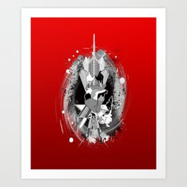 Comes from the Heart (Red) Art Print