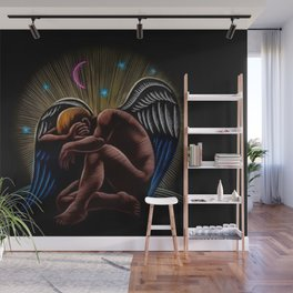 'Angel' by Jeanpaul Ferro based on the B&W drawing by Isac Friedlander Wall Mural