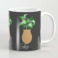 fig Mugs featuring fig by Little Lost Garden
