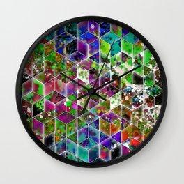 cascading interlocked box abstract  Wall Clock