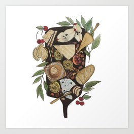 Cheese + Fruit Board Art Print