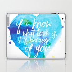 If I know what love is... Laptop & iPad Skin