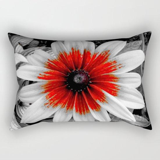 Flower   Flowers   Red Stroke Gaillardia   Red and White Flower   Nadia Bonello Rectangular Pillow