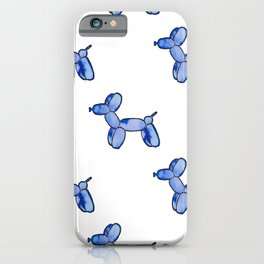 Blue Watercolor Balloon Dogs! iPhone Case