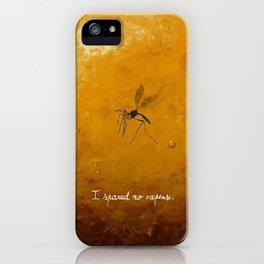 Jurassic Park - mosquito iPhone Case