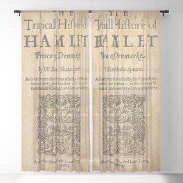Shakespeare, Hamlet 1603 Sheer Curtain
