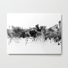 Manchester skyline in black watercolor Metal Print