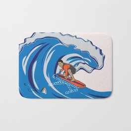 Pressing Waves Bath Mat