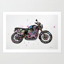Motorcycle - Bonneville Triumph T100  Art Print