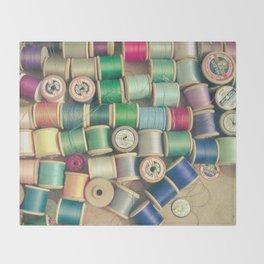 Cotton Reels Throw Blanket