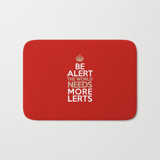 BE ALERT! Bath Mat